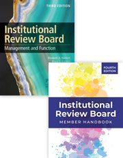 IRB Bundle: Institutional Review Board: Member Handbook, 4th Ed. WITH Institutional Review Board: Management and Function, 3rd Ed.